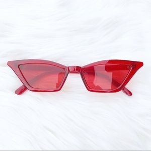 Accessories - Vintage Slim cat eye small frame design sunglasses